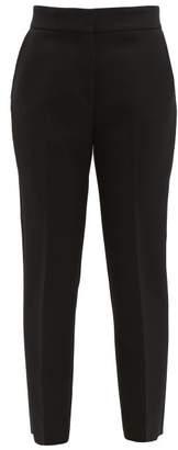 MSGM Tailored Slim Leg Crepe Trousers - Womens - Black