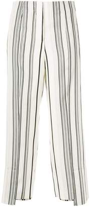 Jil Sander cropped striped trousers