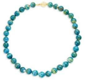 Opaline Glass Beaded Choker Necklace