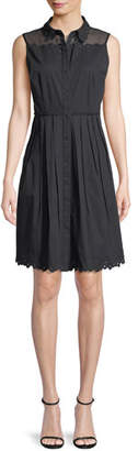 Elie Tahari Samiyah Poplin Sleeveless Dress