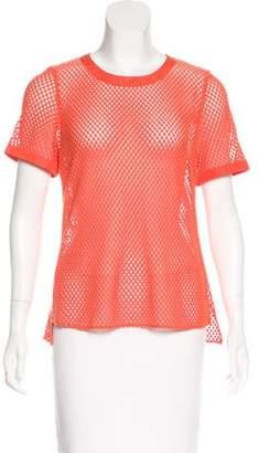Akris Punto Semi-Sheer Crocheted Top