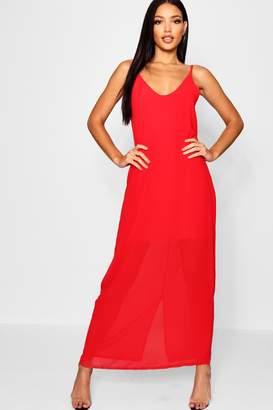 boohoo Chiffon Layered Maxi Dress