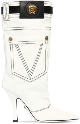 Versace 100mm Denim Boots