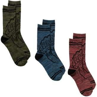 License War Heads Men's Novelty Socks, 3 Pack