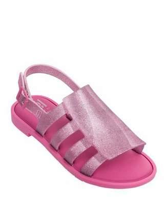 8e715c184a5fc Mini Melissa Mel Boemia Glittered Sandal