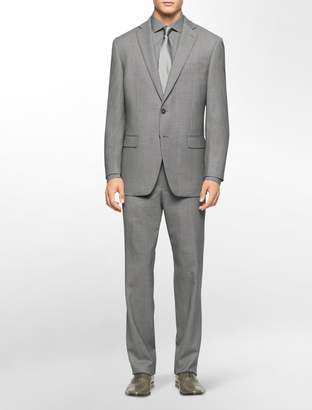 Calvin Klein body slim fit grey suit
