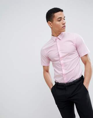 French Connection Plain Poplin Stretch Short Sleeve Shirt