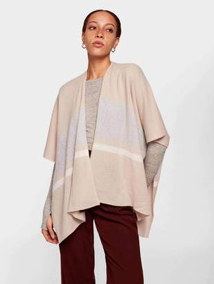 White + Warren White + WarrenWhite + Warren Cashmere Bold Stripe Poncho