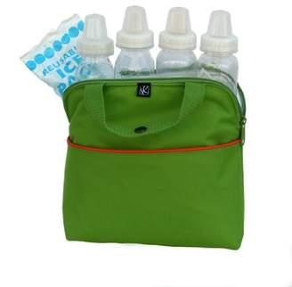 J L Childress MaxiCOOL 4 Bottle Cooler, Green/Orange