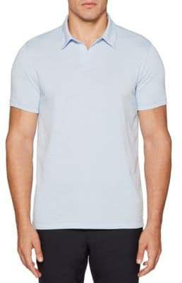 Perry Ellis Solid Open-Collar Polo