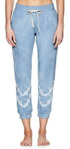 Electric & Rose Women's Kinney Tie-Dyed Fleece Jogger Pants-Blue
