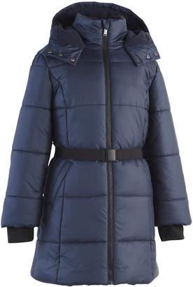 Calvin Klein Toddler Girls Aspen Hooded Belted Puffer Jacket