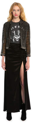 Alice + Olivia Diana Ruched Maxi Skirt