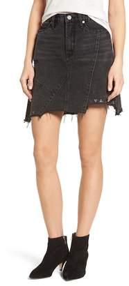 Blank NYC BLANKNYC High Rise Asymmetrical Denim Miniskirt