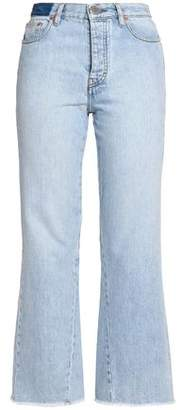 Maje High-Rise Kick-Flare Jeans