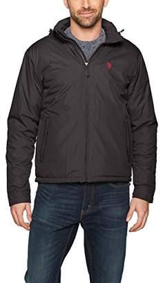U.S. Polo Assn. Men's Standard Fleece Lined Pu Piped Jacket