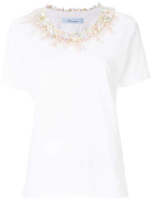Blumarine embellished neckline T-short