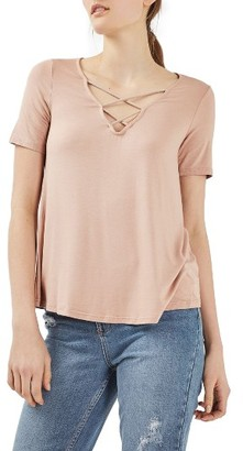 Women's Topshop Cross Neck Tee $28 thestylecure.com