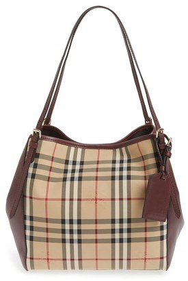 Burberry 'Small Canterbury' Horseferry Check Shoulder Tote - Red $1,150 thestylecure.com