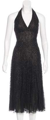 Carmen Marc Valvo Embellished Evening Dress