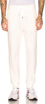 Thom Browne Honeycomb Pique Sweatpants in White | FWRD