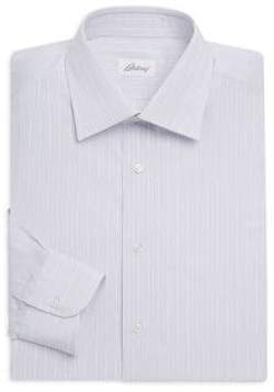 Brioni Pinstriped Cotton Dress Shirt