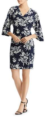 Ralph Lauren Faux-Wrap Floral Dress