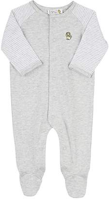 Barneys New York Infants' Embroidered Cotton Coverall - Gray
