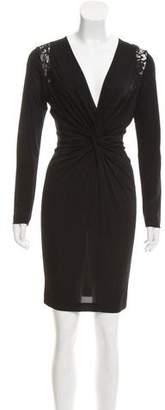 Just Cavalli Long Sleeve Knee-Length Dress