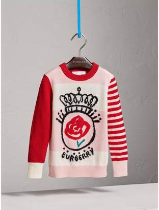 Burberry Icons Intarsia Cashmere Sweater