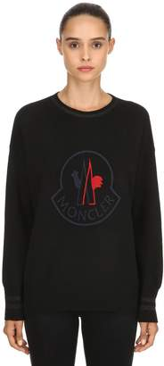 Moncler Logo Wool & Cashmere Knit Sweater