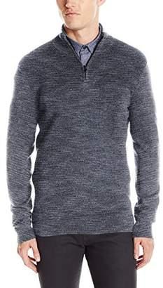 Kenneth Cole Reaction Men's Quarter Zip Marled Sweater