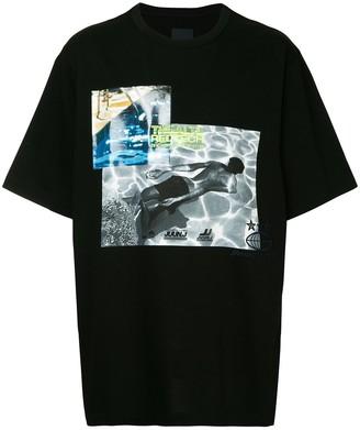 Juun.J Thealte Redtech printed T-shirt