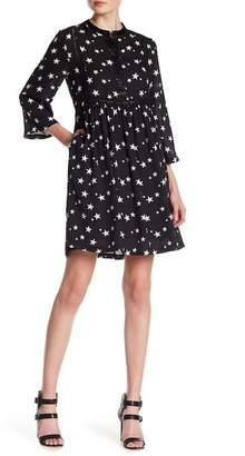 Romeo & Juliet Couture Star Print Partial Button Dress