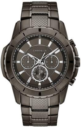 Caravelle Men's Gunmetal Ion-Plated Stainless Steel Chronograph Watch - 45A142