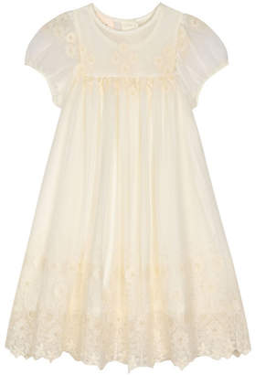 Laura Ashley Girl Vintage Style Embroidered Dress