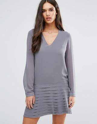 Sisley Mini Dress With Pleated Skirt