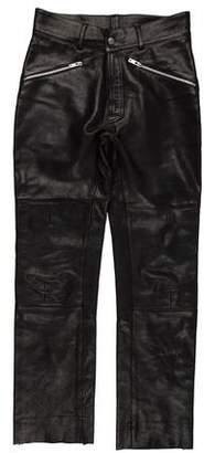 Maison Margiela Leather Biker Pants