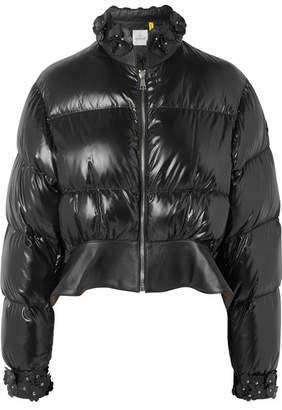 Noir Kei Ninomiya Moncler Genius - 6 Cropped Appliquéd Quilted Shell Down Jacket - Black