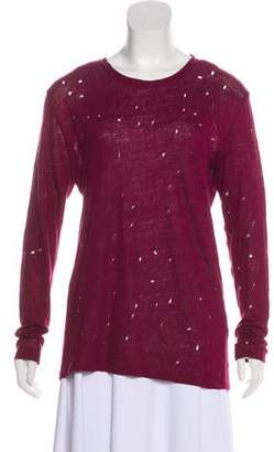 IRO Linen Distress Knit Sweater