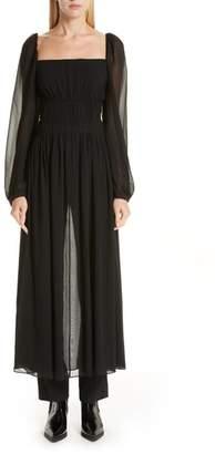 Stella McCartney Longline Pleated Silk Blouse