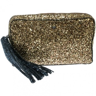 Anya Hindmarch Gold Suede Clutch bags