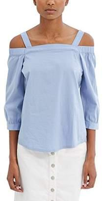 Esprit edc by Women's 037cc1f021 Blouse, Blue (Light Blue), 40 (Manufacturer Size: Large)