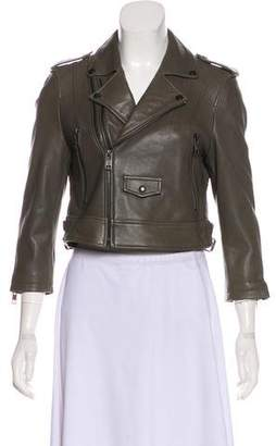 Linea Pelle Leather Biker Jacket