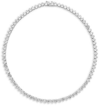 Saks Fifth Avenue Silvertone Cz Necklace