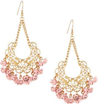 Berry Jewelry Flower Chandelier Earrings