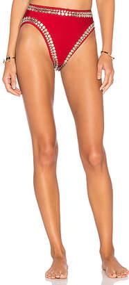 Norma Kamali Stud High Waist Bikini Bottom