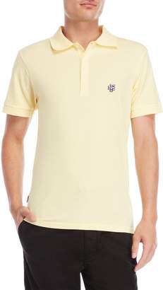 Franklin & Marshall Sun Yellow Pique Polo