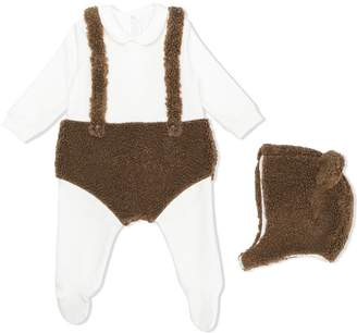 Il Gufo teddy babygrow and hat set