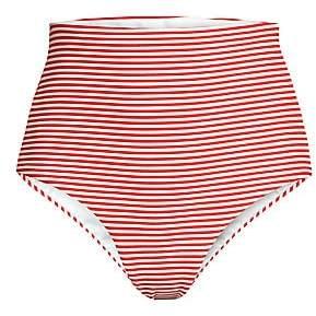 Mara Hoffman Women's Lydia High-Waist Stripe Bikini Bottoms
